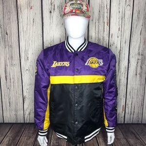 Lakers UNK Nylon Jacket Sz Large NWT